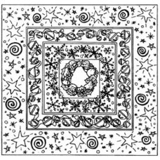 Christmas Mosaic Cling Stamp