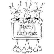 Christmas Pals Cling Stamp