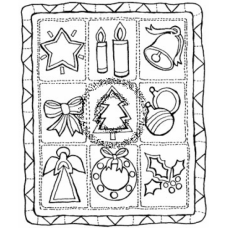 Christmas Quilt Cling Stamp