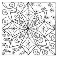 Christmas Star Cling Stamp