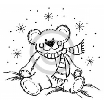 Christmas Teddy Cling Stamp