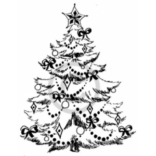 Christmas Tree Cling Stamp