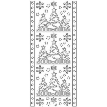 Christmas Trees Outline Stickers
