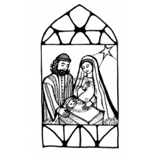 Christmas Window Cling Stamp