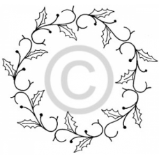 Christmas Wreath Cling Stamp