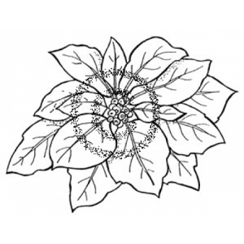 Classic Poinsettia Cling Stamp