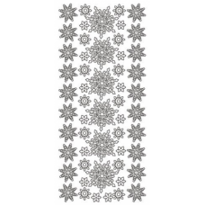 Classic Snowflakes, outline sticker