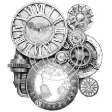 Clock and Gears, Art Acetate