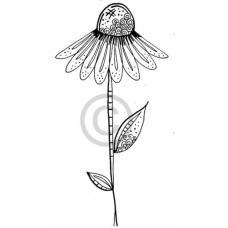 Cone Flower Cling Stamp