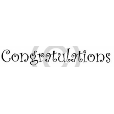 Curly Congratualtions Cling Stamp
