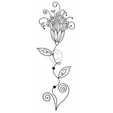 Curly Flower Cling Stamp