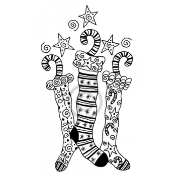 Dancing Stockings Cling Stamp