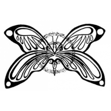 Deco Butterfly Cling Stamp