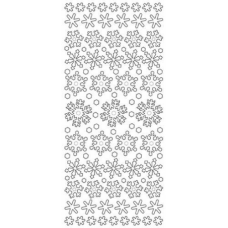 Diamond Snowflakes Outline Stickers