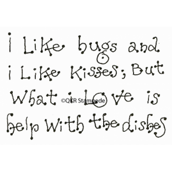 Bugs and Kisses Digital Stamp