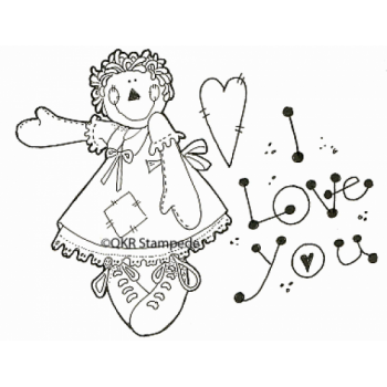 Love You Digital Stamp
