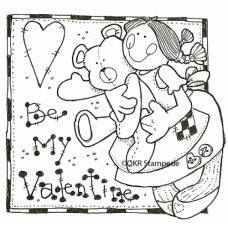 Be My Valentine Digital Stamp