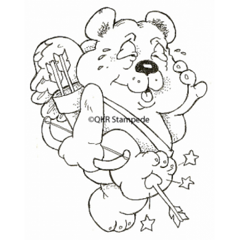 Cupid Bear Digital Stamp