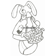 Basket of Bunnies Digital Stamp