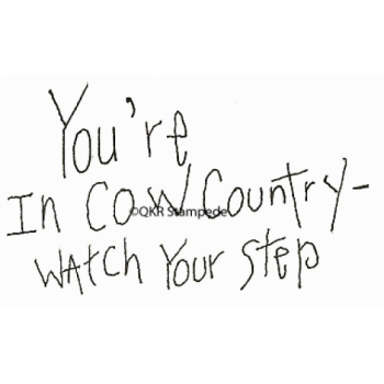 Cow Country Digital Stamp