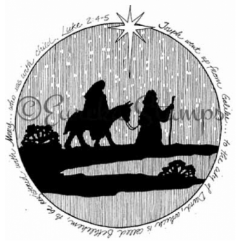 Mary and Joseph Circle Digital Stamp