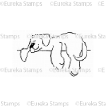 Snoozing Puppy Digital Stamp