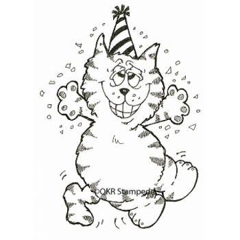 Party Cat Digital Stamp