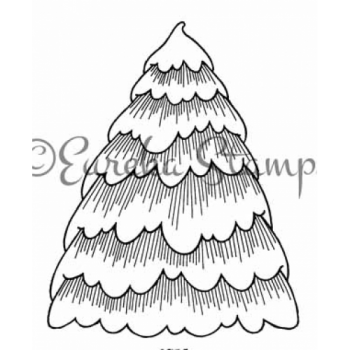 Big Snowy Tree Digital Stamp