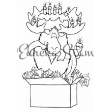 Moose in a Box Digital Stamp