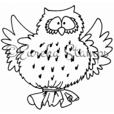 Owl Balloon Digital Stamp
