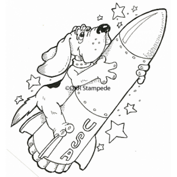 Rocket Dog Digital Stamp