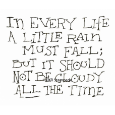 A Little Rain Digital Stamp