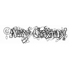 Merry Christmas in Lights Digital Stamp