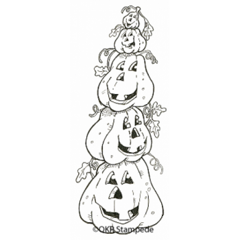 Pumpkin Stack Digital Stamp