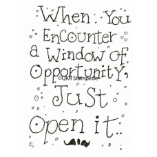 Window of Opportunity Digital Stamp