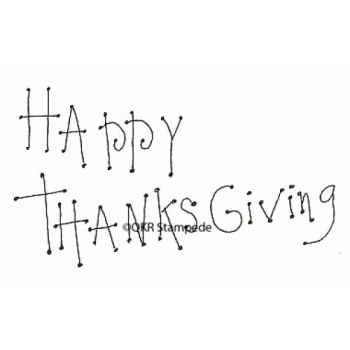 Happy Thanksgiving Digital Stamp