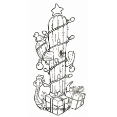 Christmas Cactus Digital Stamp