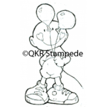 Boy with Balloons Digital Stamp