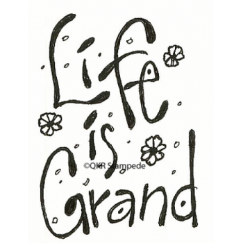 Life is Grand Digital Stamp