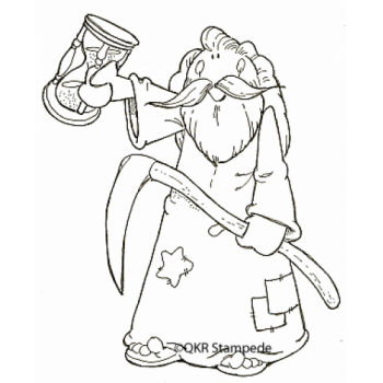 Father Time Digital Stamp