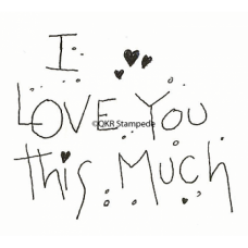 Love You This Much Digital Stamp