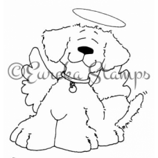 Angel Dog Digital Stamp