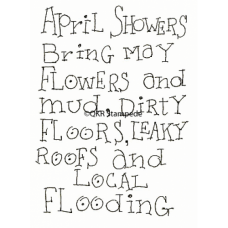 April Showers Digital Stamp