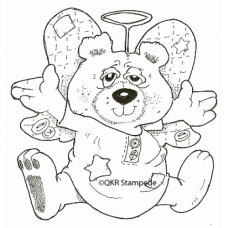 Angel Bear Digital Stamp