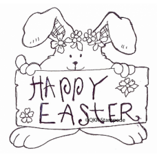 Happy Easter Digital Stamp