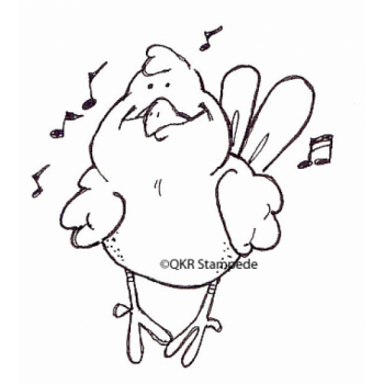 Singing Bird Digital Stamp