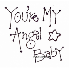 Angel Baby Digital Stamp