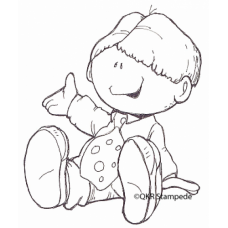 Little Boy Digital Stamp