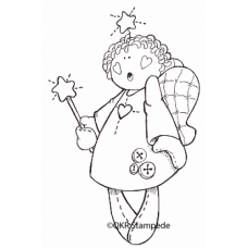 Angel Wishes Digital Stamp