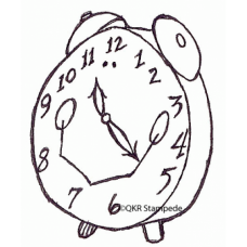 Alarm Clock Digital Stamp